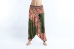 Women's Geometric Olive Mandala Jumpsuit Yoga Pants