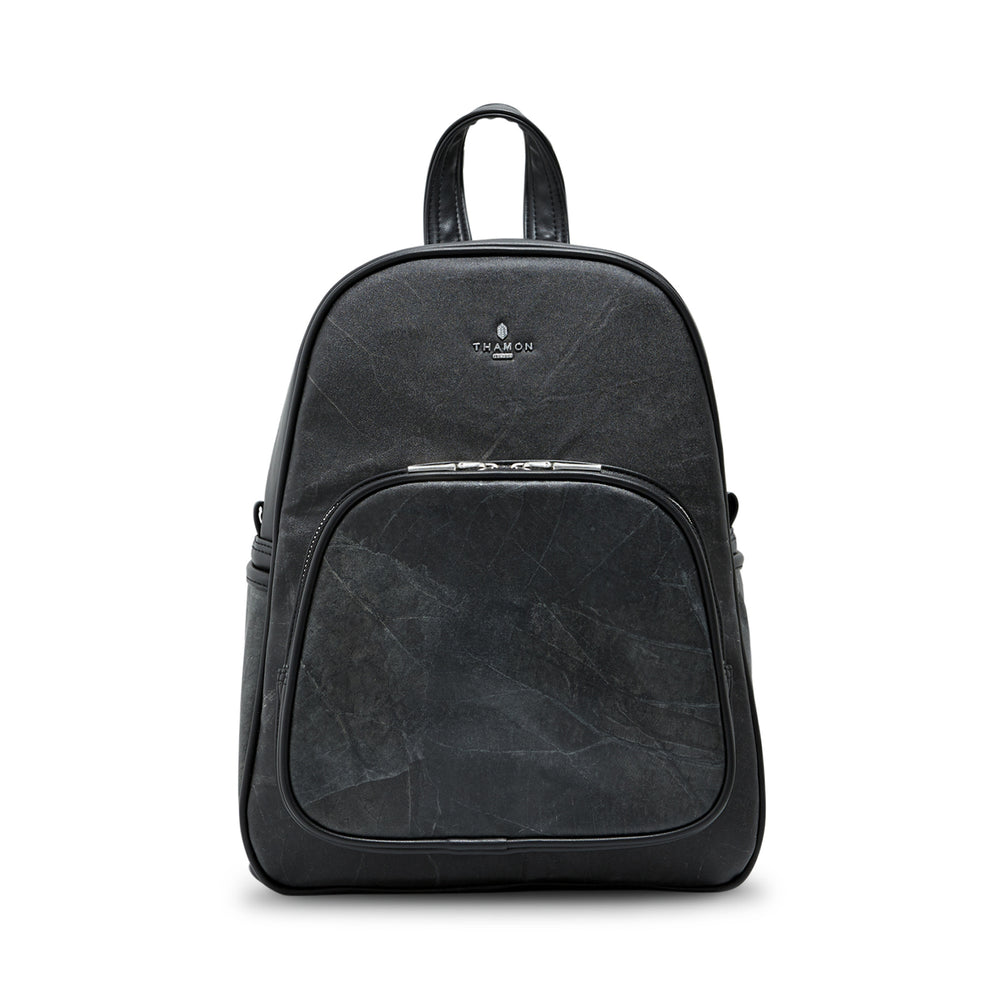Medium Black Real Tree Leaf Backpack