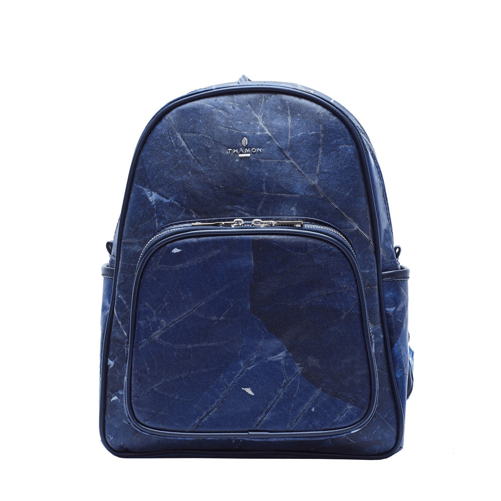 Medium Dark Blue Real Tree Leaf Backpack