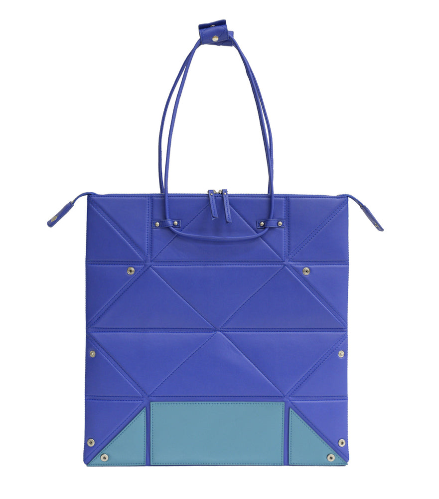 Large Blue Origami Bag with Blue Bottom
