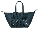 Small Black Polka Dot Handbag with Shoulder Strap
