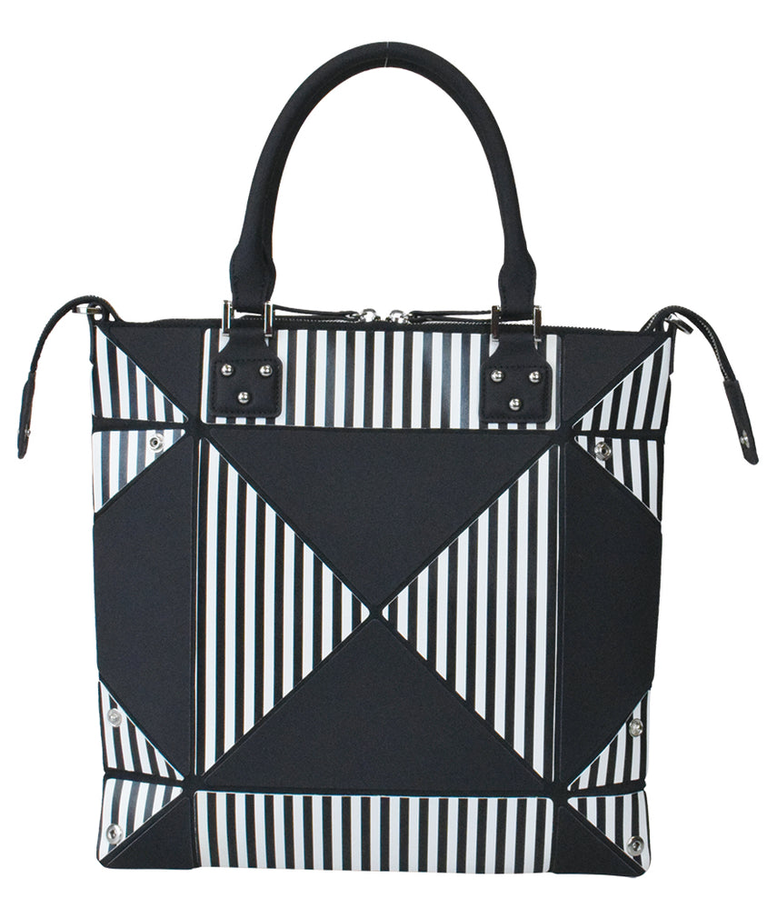 Aries Pandora Small Striped Handbag