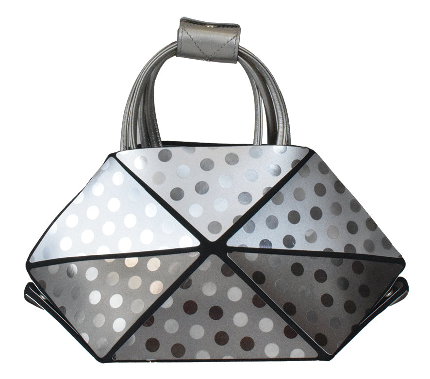 Small Bronze Polka Dot Origami Bag