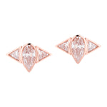 Arun Silver Stud Earrings Gold Plated