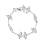 White Gold Plated Silver Bracelet with Cubic Zirconia