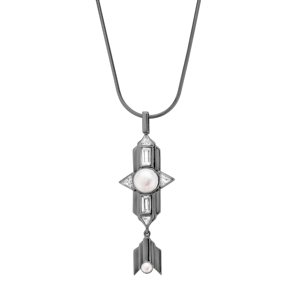 Babylon Long Silver Necklace