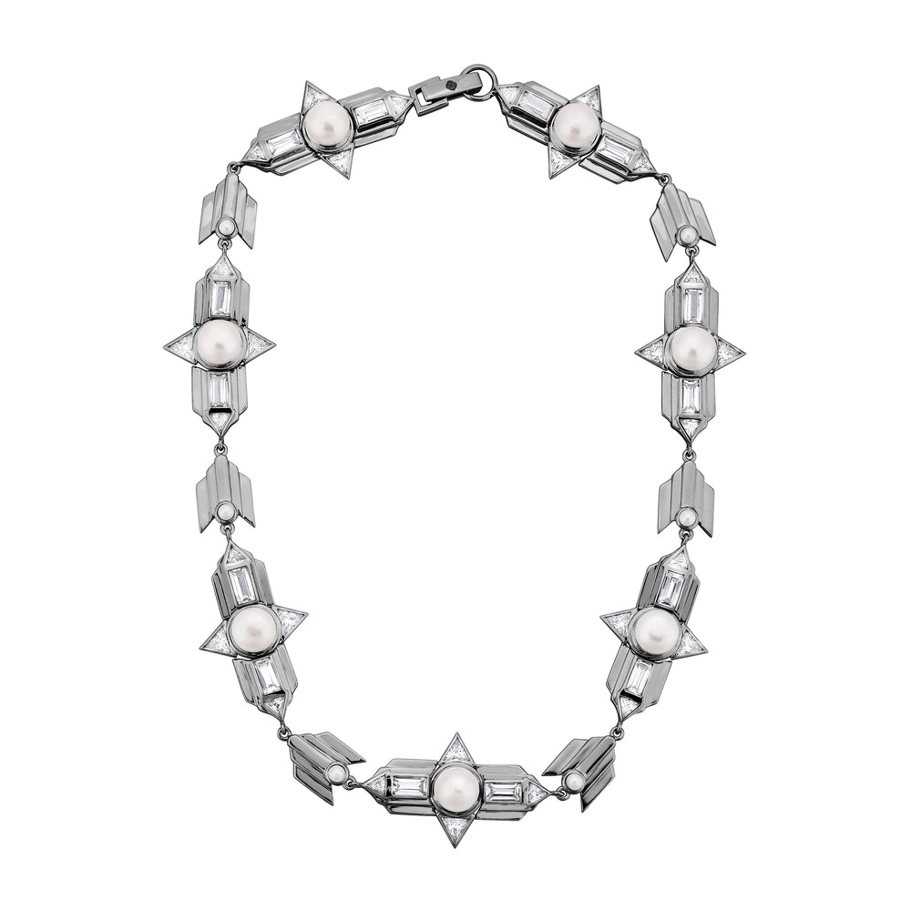 Babylon Silver Choker Necklace