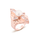 Babylon Rose Gold Plated Silver Ring