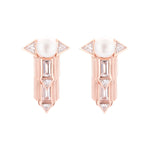 Babylon Rose Gold Plated Silver Earrings with Pearl