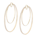 Waree Statment Gold Plated Hoop Silver Earrings