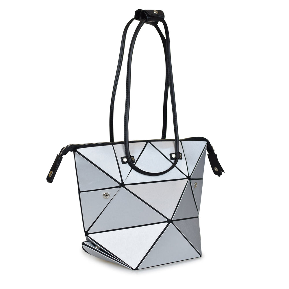 Small Silver Origami Transforming Bag