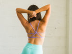 Purple Stella Yoga Sports Bralette with Removable Pads