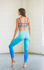 Flexi Lexi Fitness Blue Ombre Super Soft Stretchy Yoga Pants Leggings