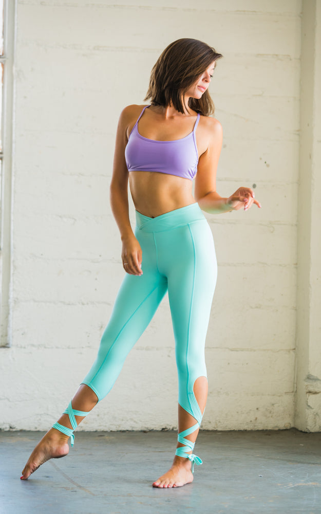 Flexi Lexi Fitness Dancer Leggings Yoga Pants Mint