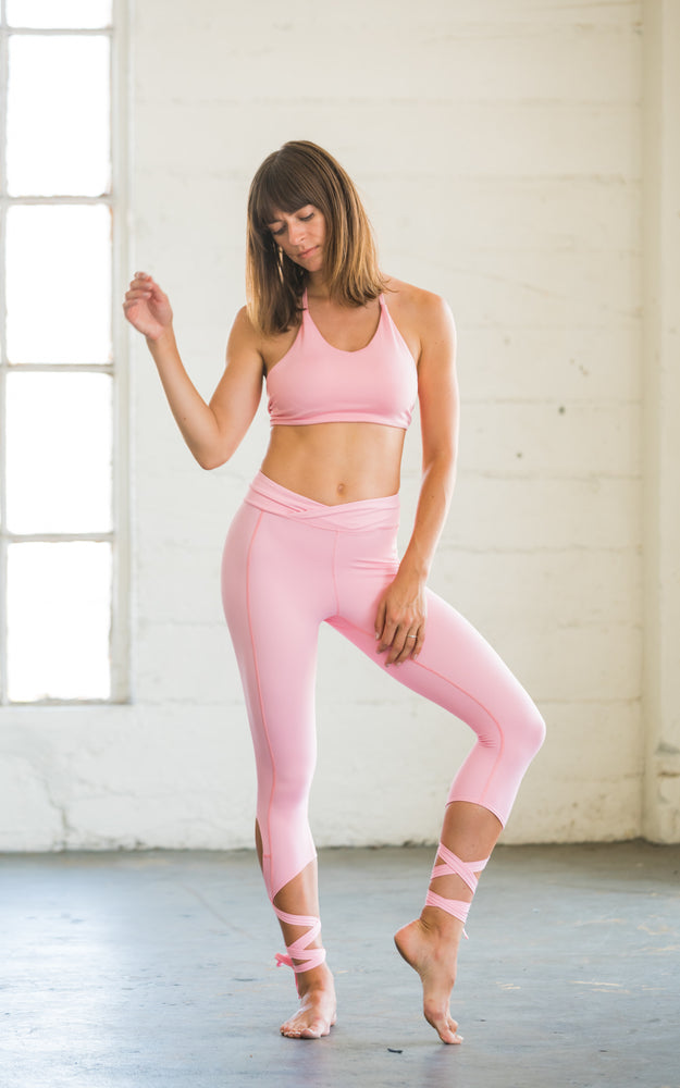 Flexi Lexi Fitness Dancer Leggings Coral Pink