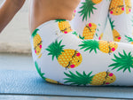 High Waisted Yoga Pants with Pineapple Pattern