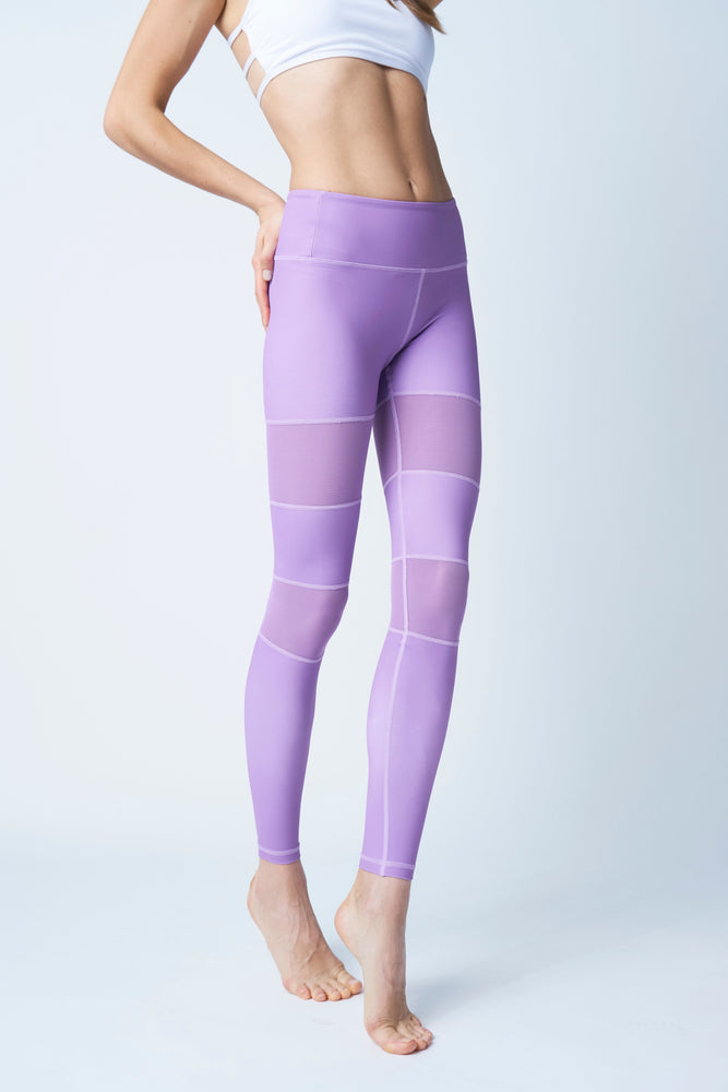 Flexi Lexi Fitness Purple Peek-a-Boo Stretchy Yoga Pants Leggings