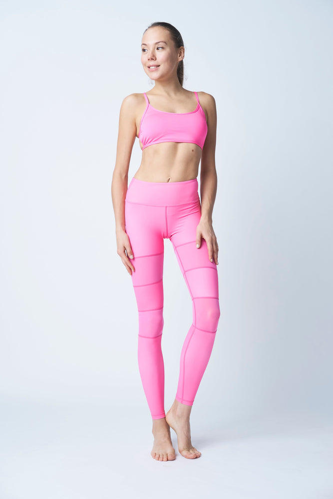 Flexi Lexi Fitness Pink Peek-a-Boo Stretchy Yoga Pants Leggings
