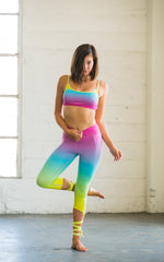 Rainbow Dancer Leggings with Ankle Ties