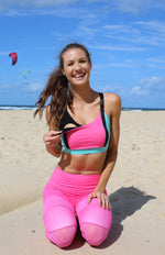 Nursing Sports Bra Mint and Pink