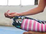 High Waisted Yoga Pants with Rainbow Unicorn Pattern