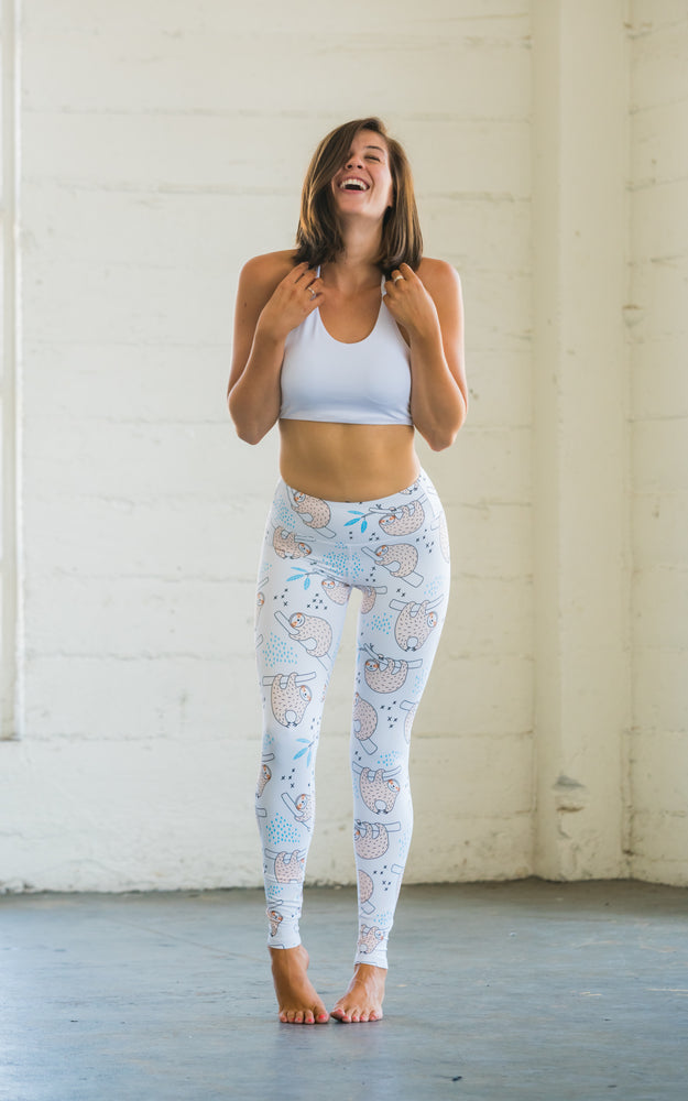 Flexi Lexi Fitness Sloth Is My Middle Name Super Soft Stretchy Yoga Pants Leggin