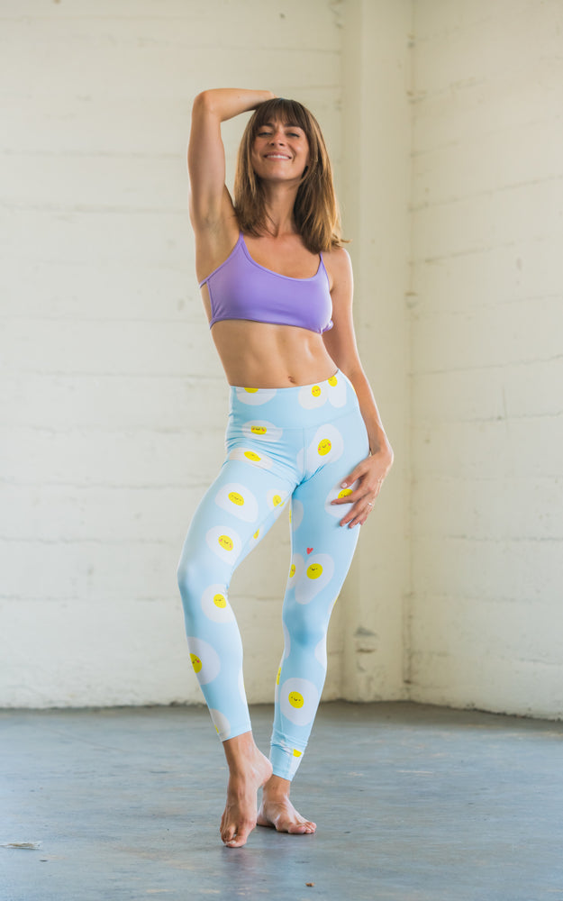 Flexi Lexi Fitness Sunny Side Up Super Soft Stretchy Yoga Pants Leggings