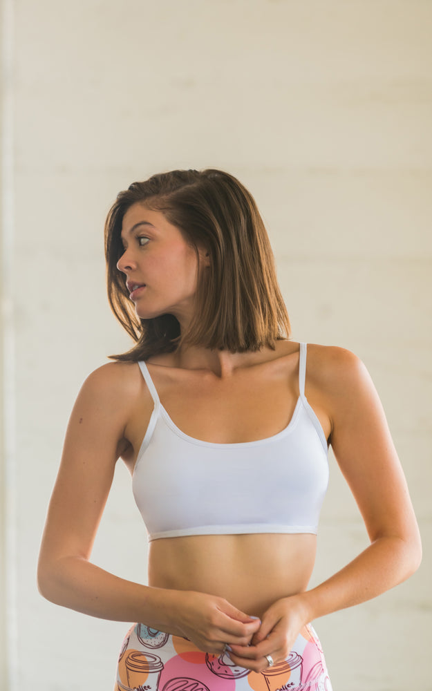 Quick-dry Sports Bralette White