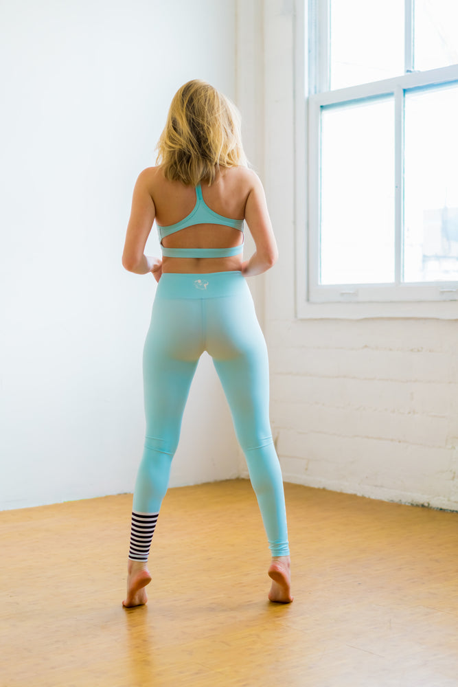 Flexi Lexi Fitness High Waist Yoga Pants Blue Lama