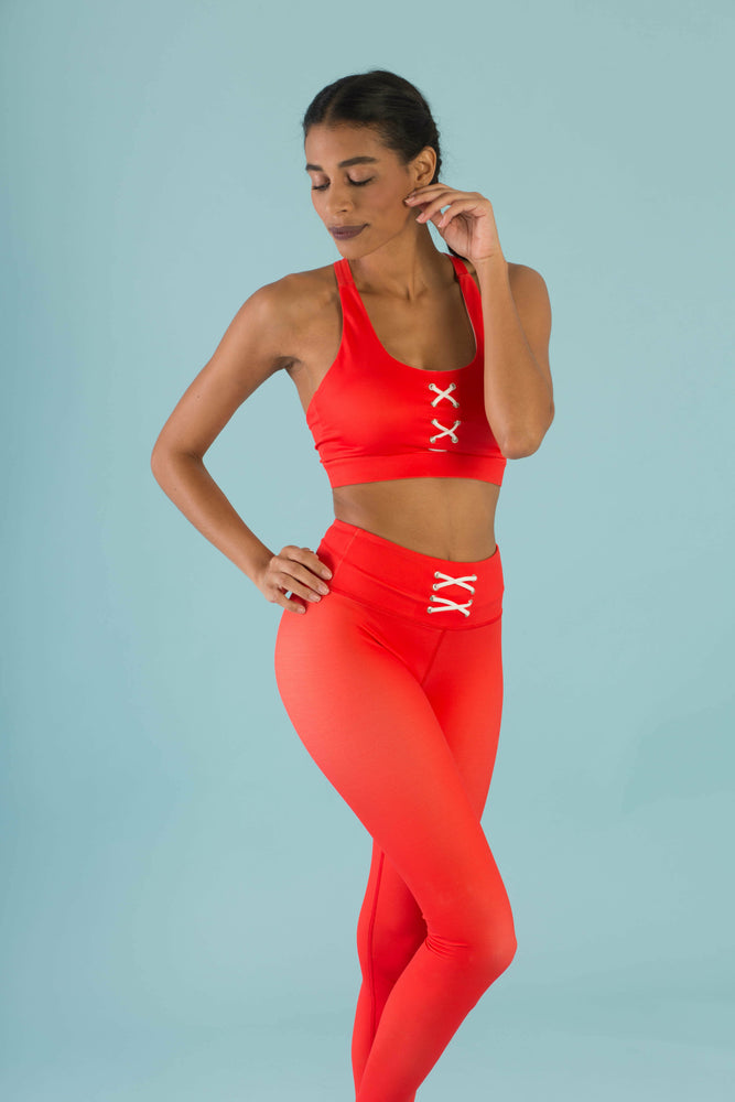 Flexi Lexi Fitness Red Sleeveless Yoga Crop Top Hello Girlfriend