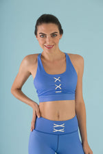 Flexi Lexi Fitness Blue Sleeveless Yoga Crop Top Hello Girlfriend