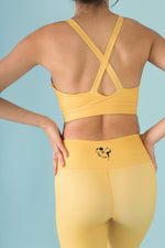 Flexi Lexi Fitness Yellow Sleeveless Yoga Crop Top Hello Girlfriend