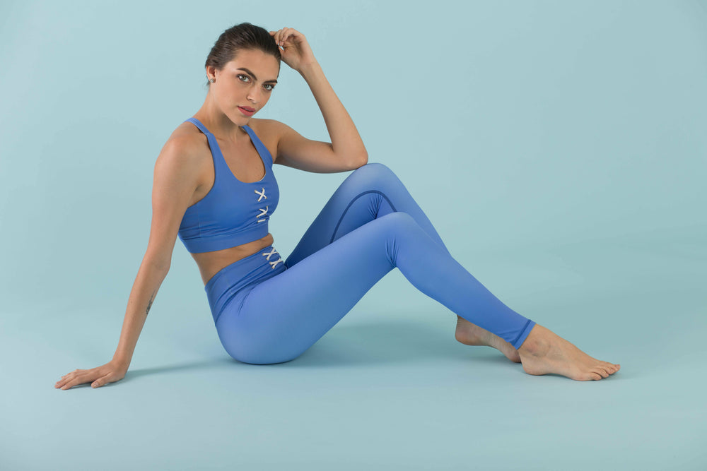 Flexi Lexi Fitness Blue Stretchy Yoga Pants Leggings Hello Girlfriend