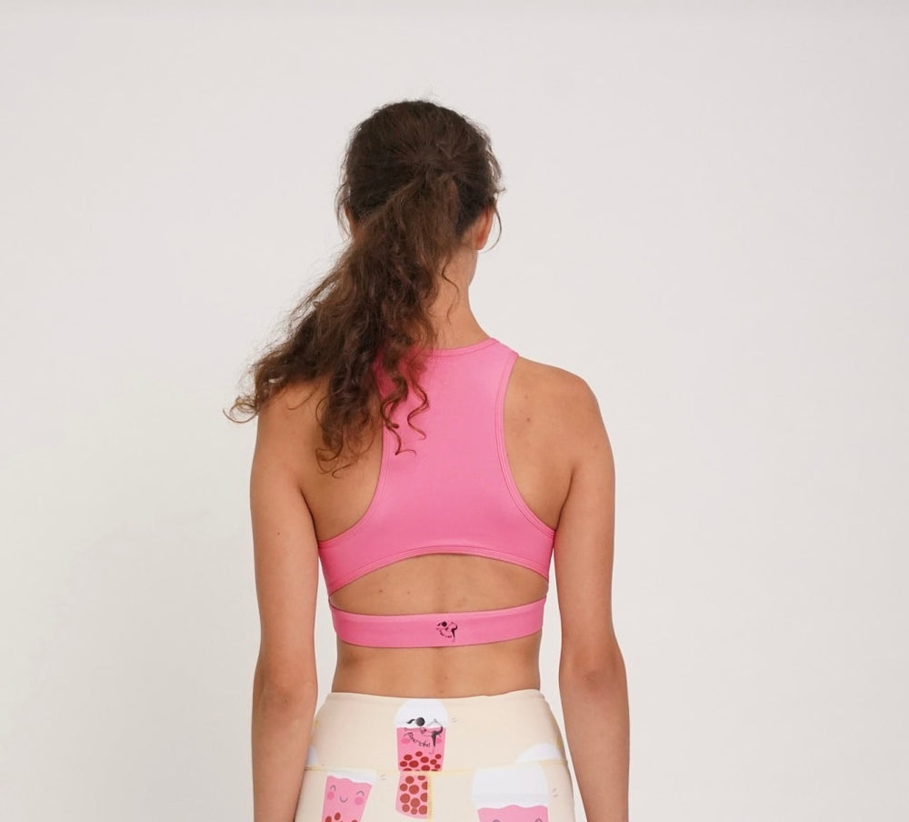 Flexi Lexi Fitness BOBA is My BAE Sleeveless Yoga Crop Top with Removable Pads