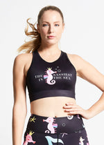 Flexi Lexi Fitness Sassy Seahorse Breathable Sleeveless Yoga Crop Top