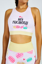 Flexi Lexi Fitness Macarons Recycled Polyester Sleeveless Yoga Crop Top