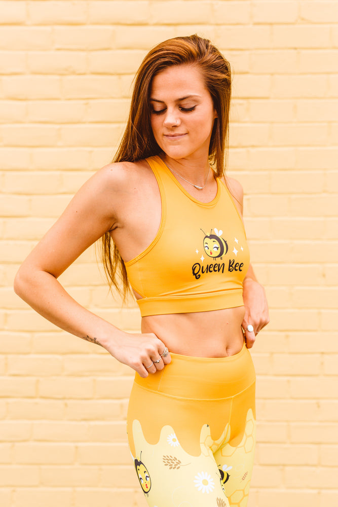 Flexi Lexi Fitness Queen Bee Recycled Polyester Sleeveless Yoga Crop Top