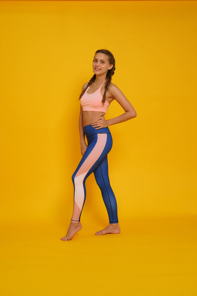 Navy Blush High Waist Yoga Pants