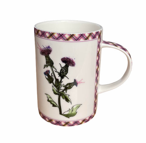 Wild Thistle Bone China Mug (B15WT)