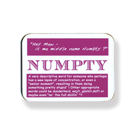 Numpty Coaster - 2 Pack