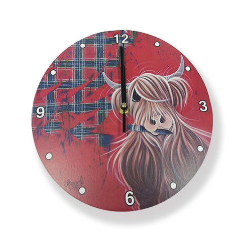 McMoo Highland Cow Clock (CLOTP)