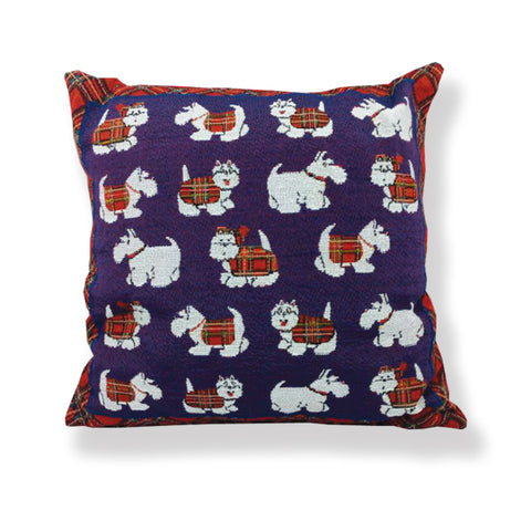 Tartan Terrier Jacquard Cushion (CUS01TT)