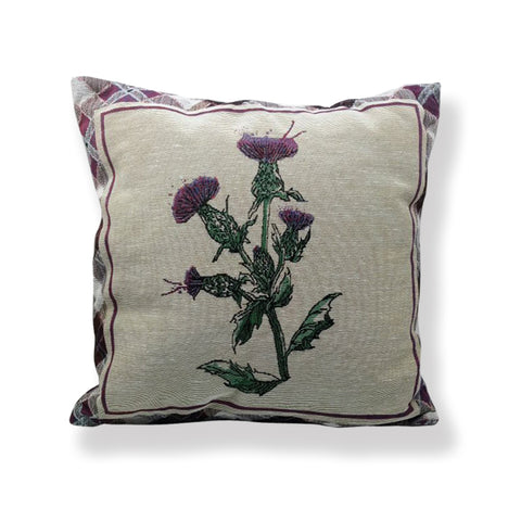 Wild Thistle Jacquard Cushion (CUS01WT)