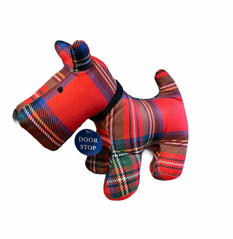 Dougal Tartan Scottie Dog Door Stop