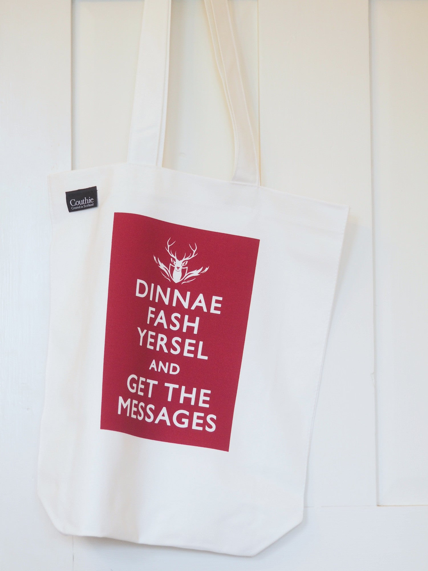Dinnae Fash - Get the Messages - Berry Collection Canvas Shopping Bags