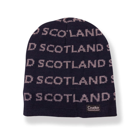Scotland Beanie hat with fleece lining. (Navy) HAT300