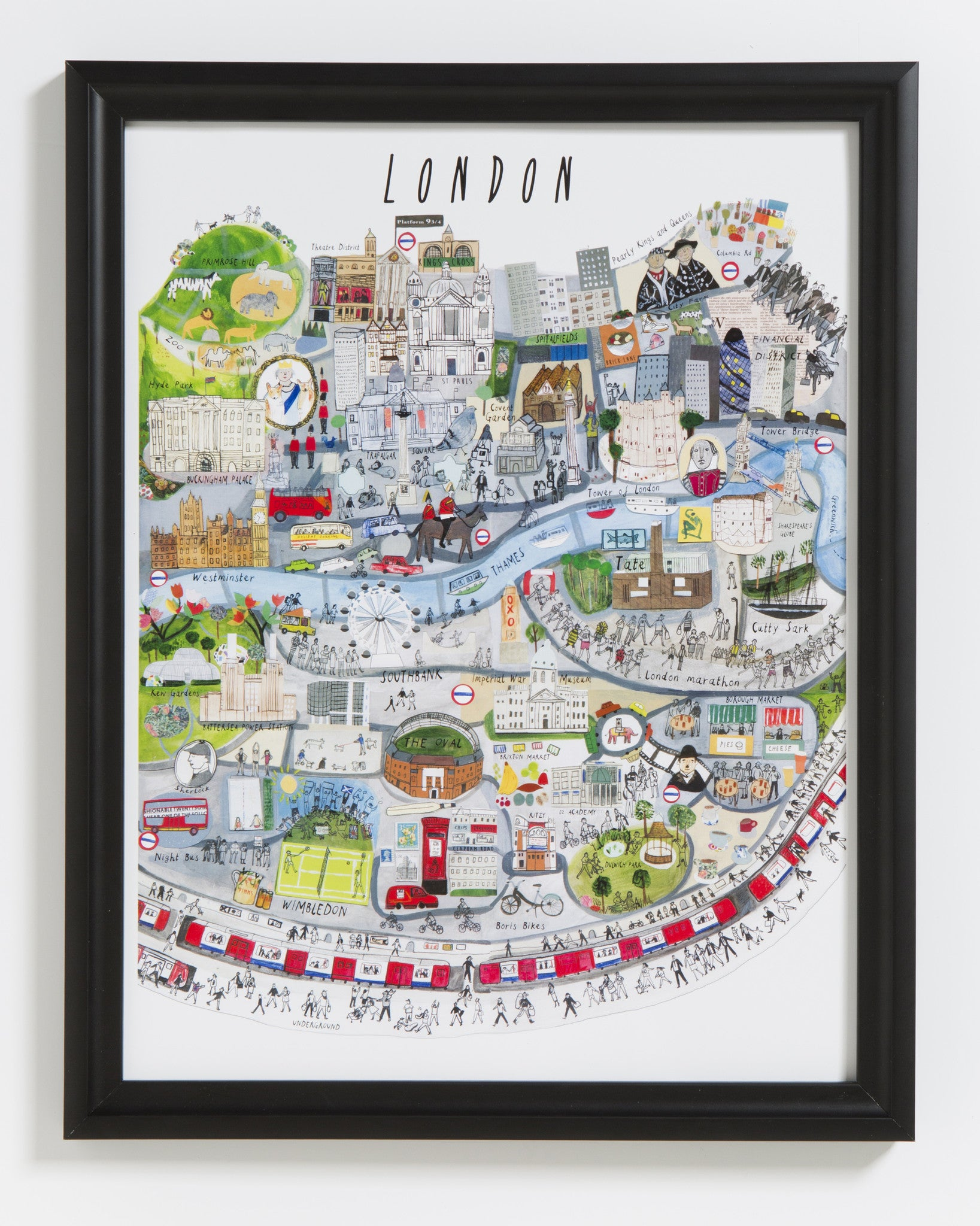 London Mapped Out Art Print