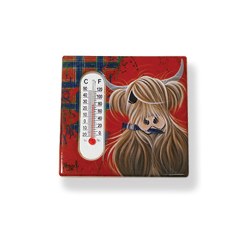 McMoo Highland Cow Ceramic Magnet