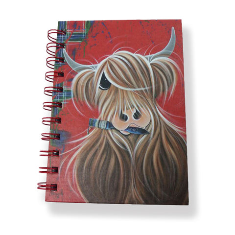 McMoo Highland Cow A6 Notebook
