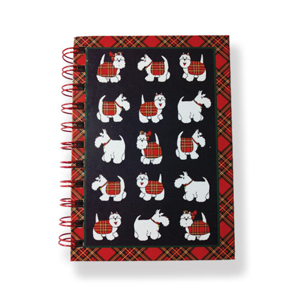 Tartan Terrier A6 Notebook and Pen